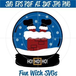 Santa Stuck In Chimney SVG Image