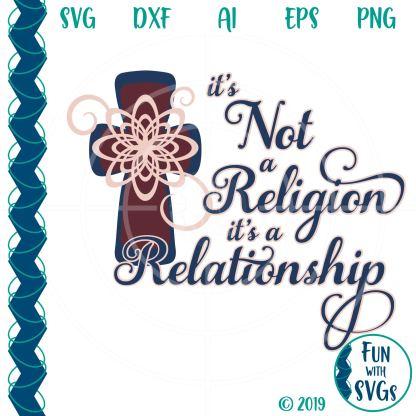Christian Cross Relationship SVG Image