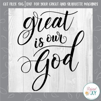 Great Is Our God SVG Image