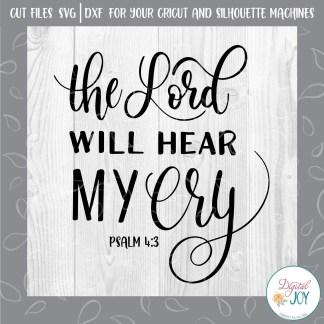 Digital Joy SVG Image Psalm 4:3