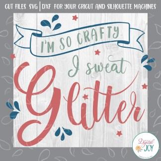 I sweat Glitter SVG Image