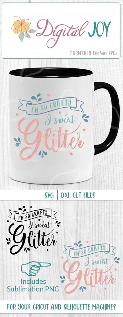 I Sweat Glitter SVG Sublimation Mockup Image For Pinterest
