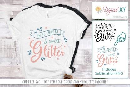 I Sweat Glitter SVG Sublimation Mockup Image