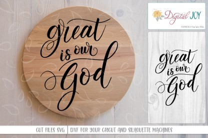 Sample Project Image for Great is Our God SVG File