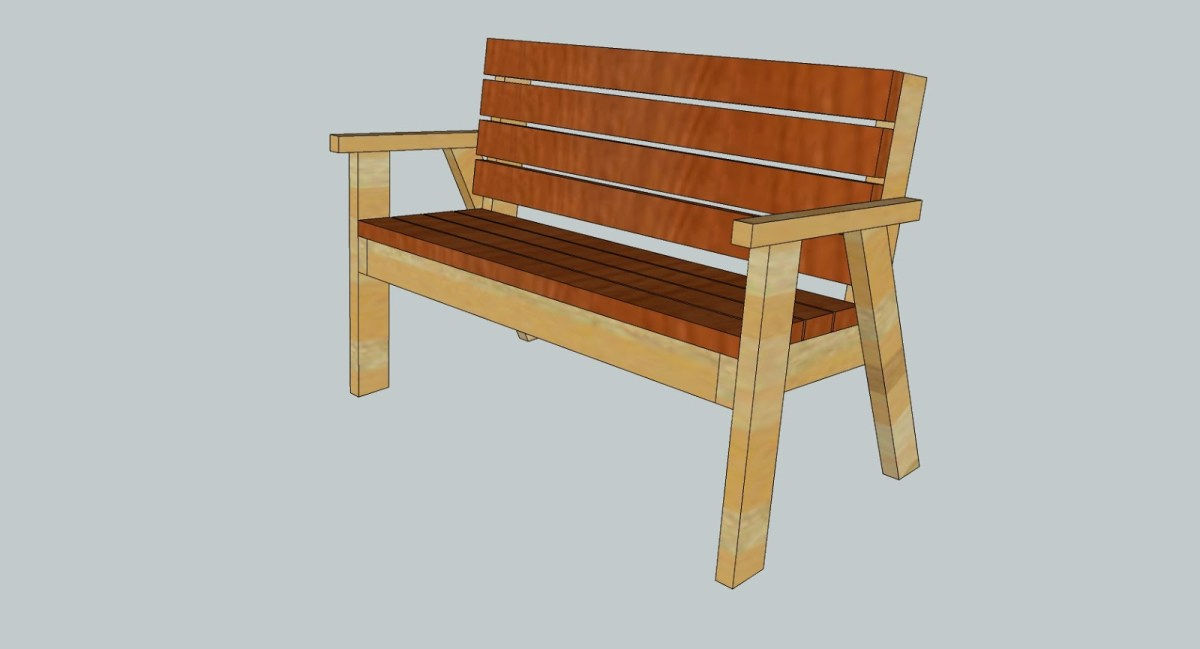 Park Bench With A Reclined Seat Full Plans Fun With