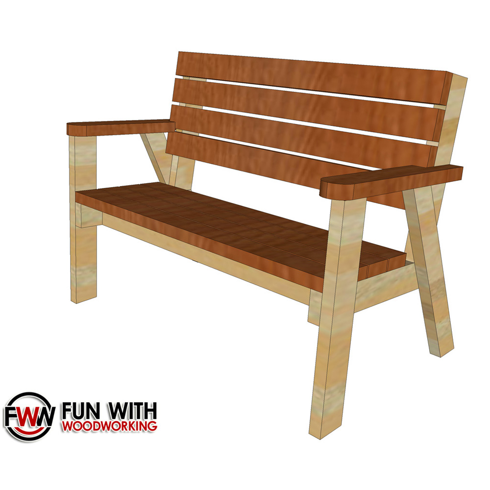 Stupendous Park Bench With A Reclined Seat Ver 2 Full Plans Alphanode Cool Chair Designs And Ideas Alphanodeonline