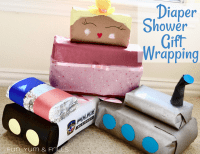 Creative Diaper Shower Gift Wrapping Ideas  Fun, Yum & Frills