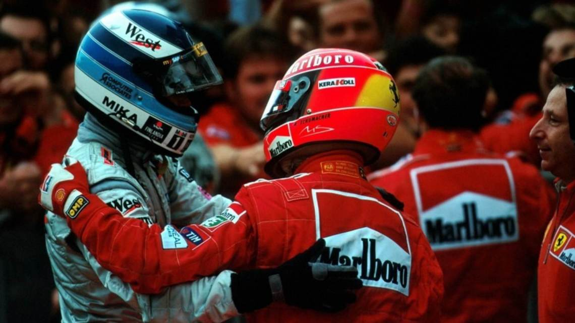 Schumacher e Hakkinen- Una storia che parte da lontano.