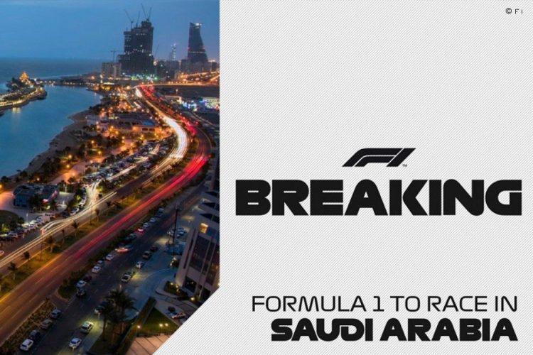 La Formula 1 debutterà in Arabia Saudita nel 2021.