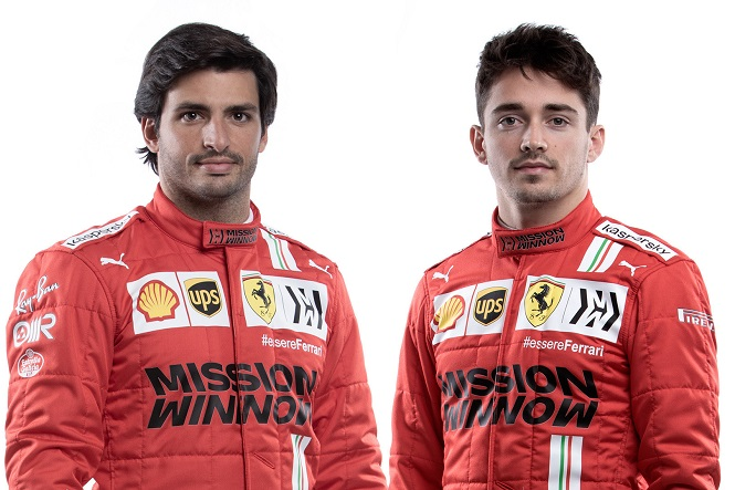 Carlos Sainz e Charles Leclerc con le nuove tute