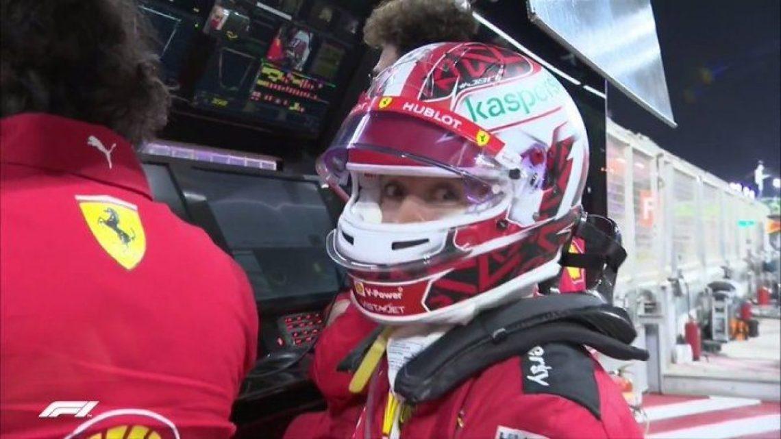 Charles Leclerc e il suo cauto ottimismo per il motore Ferrari.