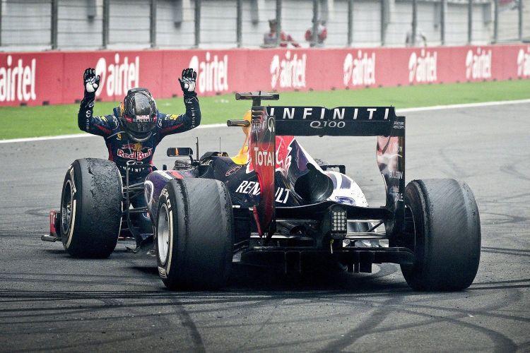 Vettel quattro volte campione del mondo con la Red Bull