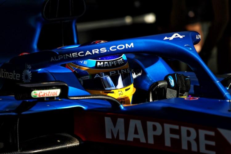 Fernando Alonso a bordo della nuova Alpine