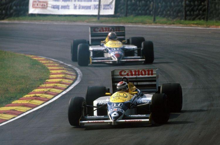 Nelson Piquet e Nigel Mansell in Williams