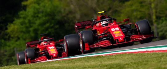 Le 2 Ferrari ad Imola