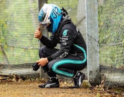 Bottas dopo l'incidente di Imola