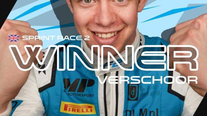 F2   Gran Premio di Gran Bretagna – Si arriva come si parte: Verschoor domina una gara caratterizzata dalle safety car, seguono Armstrong e Ticktum.