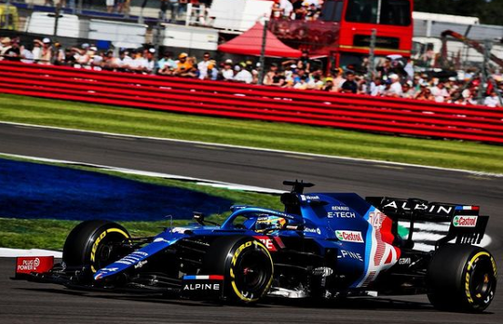 Fernando Alonso durante il Gp di Silverstone