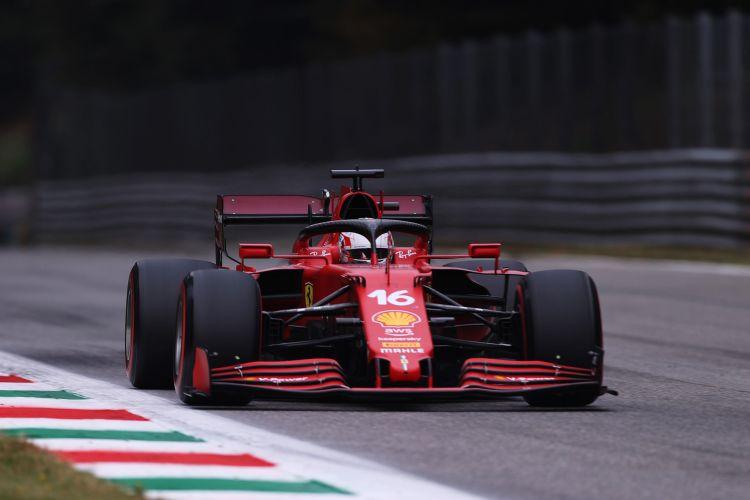Ferrari durante il GP d'Italia