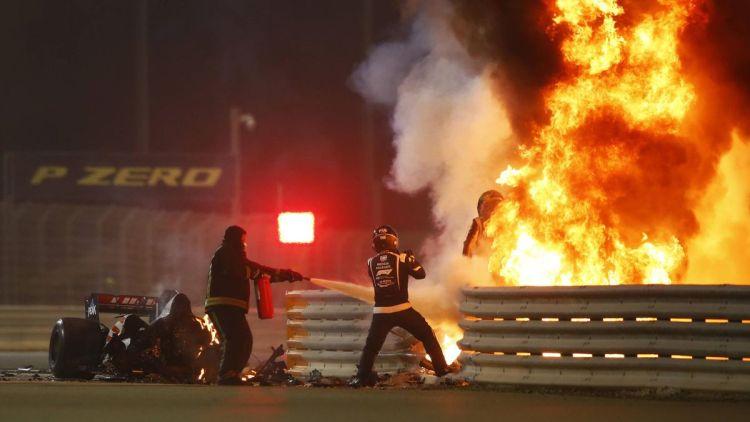 Incidente Grosjean durante il GP di Sakhir 2020