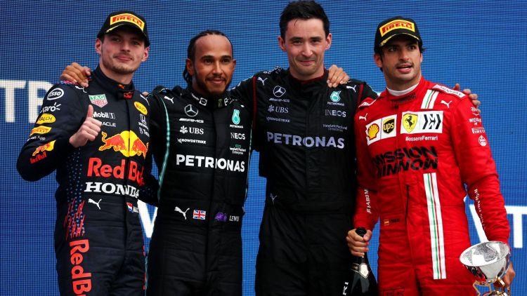Il podio del GP di Russia 2021