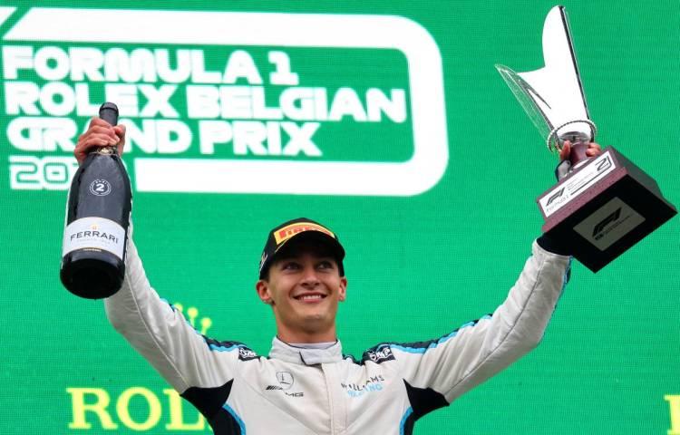 Il podio di George Russell, pilota Williams