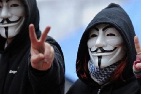 Image: #OpCharlieHebdo - Anonymous declare war on Jihadi Terrorists - Source: LeSoir