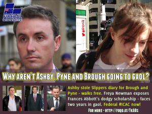 Image: Freya Newman exposed Frances Abbott's secret $60 scholarship