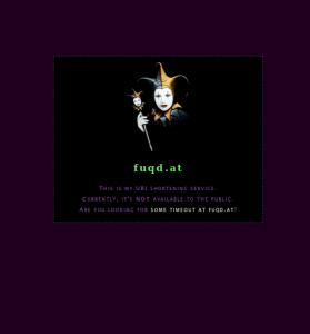 Screenshot of fuqd.at landing page (restored)