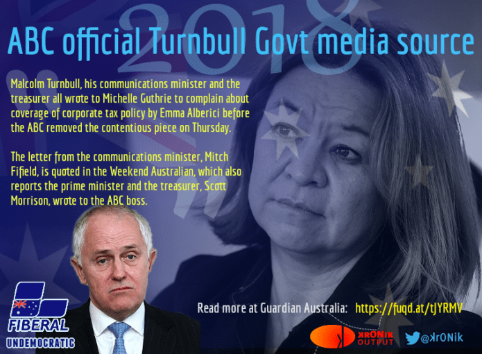 ABC - the Turnbull Government propaganda unit