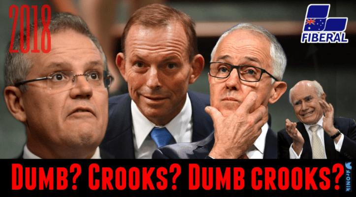 Image: Liberal Party: dumb? Crooks? Dumb crooks?