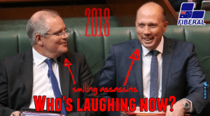 Image of Morrison and Dutton in Parliament