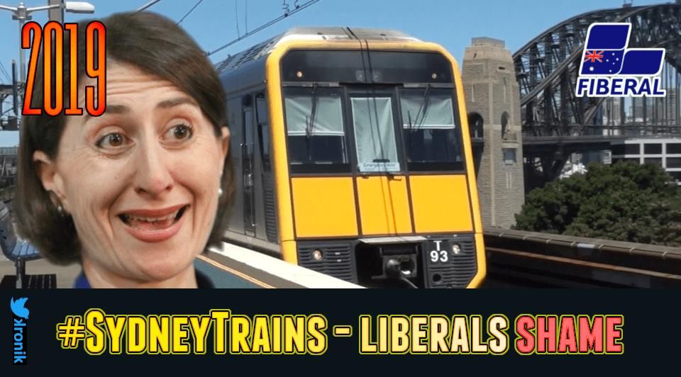 Image: #SydneyTrains - Liberals SHAME!