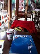 洋風ホテル併設の喫茶店で一息。
