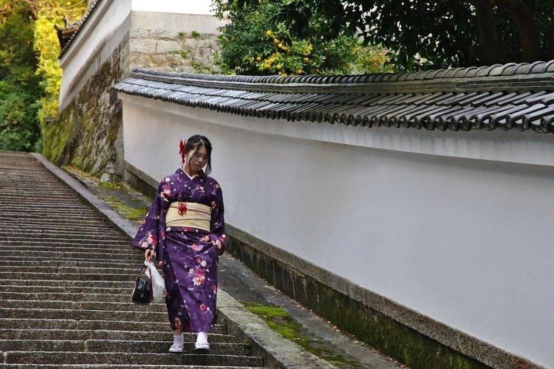 Kyoto, femme japonaise