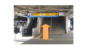 JR戸塚駅ホーム橋上改札入り口