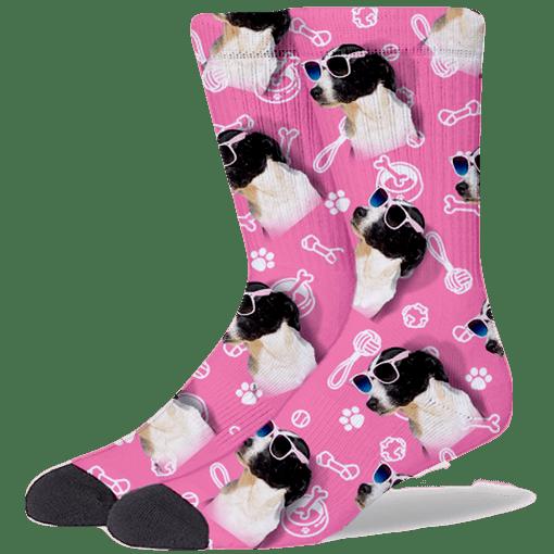 FurbabySocks Custom Pink Dog Socks