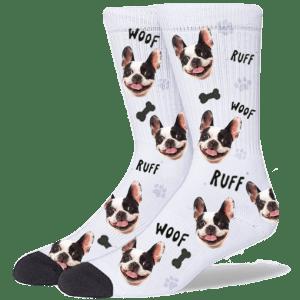 FurbabySocks Custom White Dog Socks