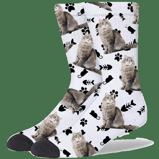 FurbabySocks Custom White Cat Socks