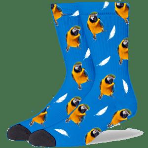 FurbabySocks Custom Blue Bird Socks