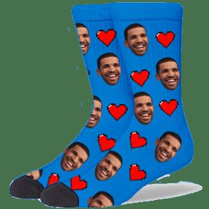 FurbabySocks Custom Blue Heart Socks