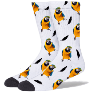FurbabySocks Custom White Bird Socks