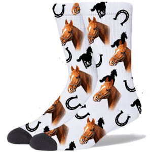 FurbabySocks Custom White Horse Socks