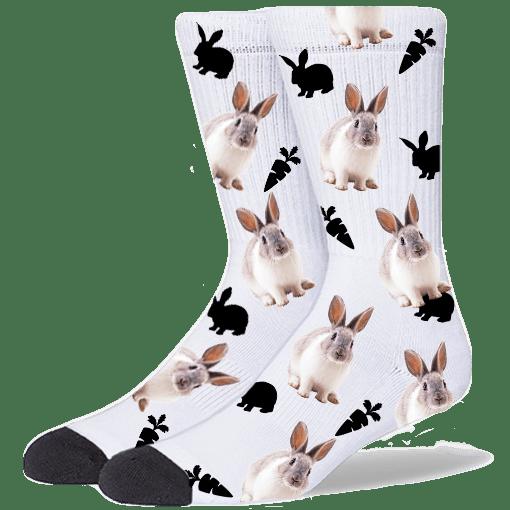 FurbabySocks Custom White Rabbit Socks
