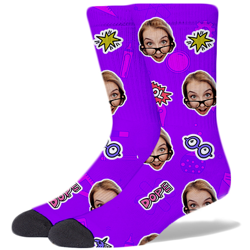 Back To School Product Socks ELECTRIC PURPLE