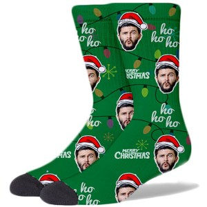 Custom Christmas Socks GREEN