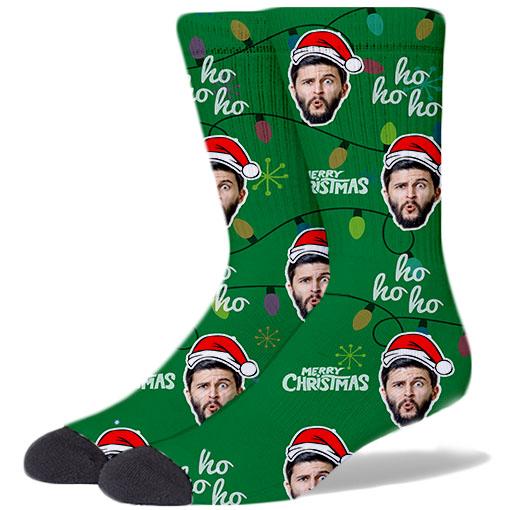 Custom Christmas Socks GREEN