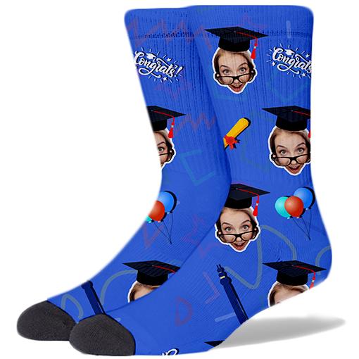Graduation Product Socks CERULEAN BLUE