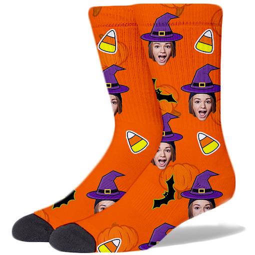 Halloween Product Socks ORANGE