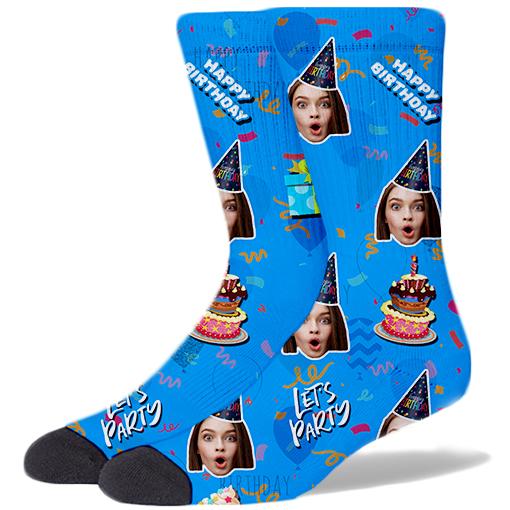 Happy Birthday Product Socks SKY BLUE